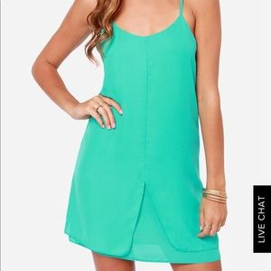 Turquoise Green Dress